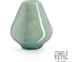 Design vaas venice - Fidrio MOSS - glas, mondgeblazen bloemenvaas - diameter 15 cm hoogte 20 cm