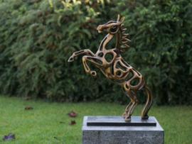 Tuinbeeld brons - bronzen beeld - paard - Bronzartes