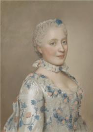 80 x 120 cm - Plexiglas schilderij - Maria Josepha van Saksen - klassieke kunst afbeelding op acryl - oude meesters!