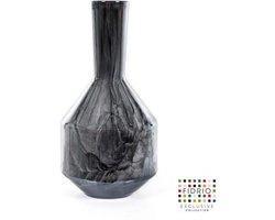 Design bottle Benito small - Fidrio NERO - glas, mondgeblazen - hoogte 25,5 cm