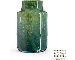 Design vaas Pax - Fidrio AMAZONE - glas, mondgeblazen bloemenvaas - diameter 19 cm hoogte 29 cm