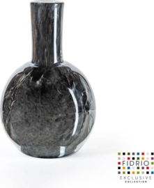 Design vaas Globe large - Fidrio NERO - glas, mondgeblazen - hoogte 40 cm --