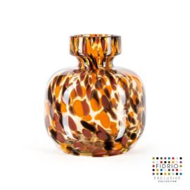 Design vaas Fidrio - glas kunst sculptuur - Havanna - Olympia - mondgeblazen - bloemenvaas - 20 cm hoog --
