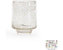 Design vaas Cilinder small - Fidrio BUBBLES CLEAR - glas, mondgeblazen bloemenvaas - diameter 99 cm hoogte 11 cm