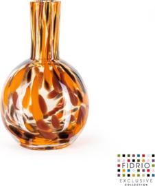 Design vaas Globe Small - Fidrio Havanna - Bloemenvaas glas, mondgeblazen - hoogte 20 cm --