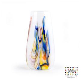 Design vaas Fidrio - glas kunst sculptuur - gloriosa - Dance - mondgeblazen - 22 cm hoog --