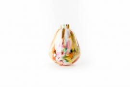 Design vaas Fidrio - glazen sculptuur - pear scissors - Mixed colours - mondgeblazen - 30 cm hoog --