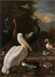 80 x 120 cm - Plexiglas schilderij - Het Drijvend Veertje - foto print op acryl - klassieke kunst afbeelding op acryl - oude meesters!