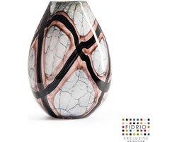 Design vaas Organic - Fidrio ONYX FLAME - glas, mondgeblazen bloemenvaas - hoogte 40 cm