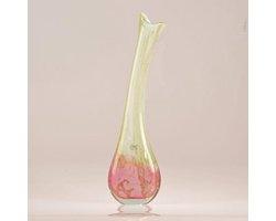 Design vaas Lampadina - Fidrio MISTIQUE PINK - glas, mondgeblazen bloemenvaas - diameter 15 cm hoogte 50 cm
