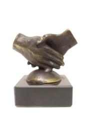 Bronzen beeldje - sculptuur - abstract - Samen werken - Martinique