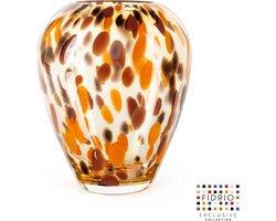 Design vaas Alore - Fidrio Havanna - glas, mondgeblazen bloemenvaas - hoogte 22 cm