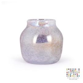 Design vaas Fidrio - glas kunst sculptuur - Floreo - Breeze - mondgeblazen - 25 cm hoog --