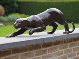 Tuinbeeld - bronzen beeld - Luipaard 92 cm - Bronzartes - 30 cm hoog