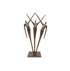 Bronzen beeldje - sculptuur - figuur - samen gepatineerd