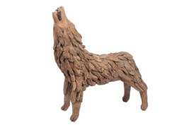 Houten kunst - Beeld - sculptuur - houten wolf