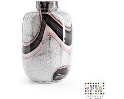 Design vaas Toronto Large - Fidrio ONYX FLAME - glas, mondgeblazen bloemenvaas - hoogte 27 cm