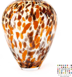 Design vaas Alore XL - Fidrio Havanna - Bloemenvaas glas, mondgeblazen - hoogte 33 cm --