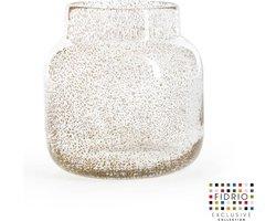 Design vaas Bloom - Fidrio BUBBLES CLEAR - glas, mondgeblazen bloemenvaas - hoogte 15 cm --