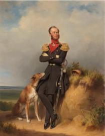 80 x 120 cm - Plexiglas klassiek schilderij - portret Willem II der Nederlanden - klassieke kunst afbeelding op acryl - oude meesters!