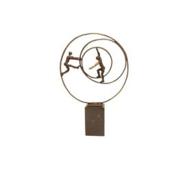 Beeld brons - sculptuur - figuur - circle of life - 33 cm hoog - Martinique