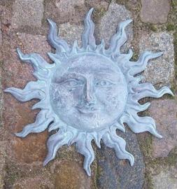 Tuinbeeld - bronzen beeld - Kleine groene zon - Bronzartes - 45 cm hoog