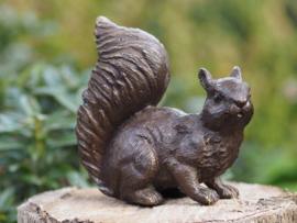 Tuinbeeld brons - Bronzen beeld - Eekhoorn - Bronzartes
