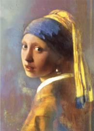 60 x 100 - Schilderij Dibond - Foto op aluminium - Meisje met de Parel  - Vermeer