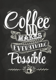 Schilderij Dibond - Koffie