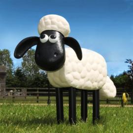 Beeld metaal - Tuinbeeld - beeld Shaun het schaap - 41 cm hoog
