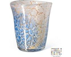 Design vaas Sidney - Fidrio GOLDEN WIRE - glas, mondgeblazen bloemenvaas - diameter 24 cm hoogte 25 cm