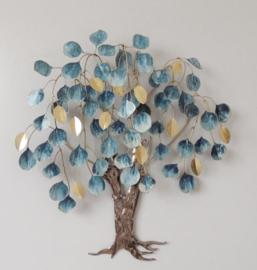 Metalen wanddecoratie - wanddeco - kleurrijke boom