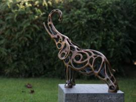 Tuinbeeld brons - Bronzen beeld - Olifant - Bronzartes