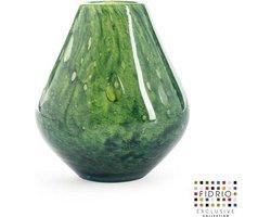 Design vaas venice - Fidrio AMAZONE - glas, mondgeblazen bloemenvaas - diameter 15 cm hoogte 20 cm --