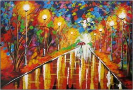 Acrylverf schilderij - Walk in the Park