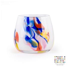 Design vaas Fidrio - glas kunst sculptuur - fiore - Dance - mondgeblazen - 12 cm hoog --