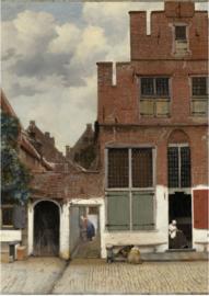 Foto op hout - Het Straatje - Vermeer