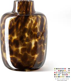 xxx Design vaas Toronto Medium - Fidrio LEPPARD - glas, mondgeblazen - hoogte 15 cm