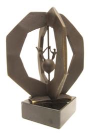 Bronzen beeldje - sculptuur - abstract - nieuw toekomstperspectief - Martinique