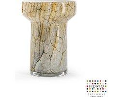 Design vaas Evoluon Large - Fidrio DESERT - glas, mondgeblazen bloemenvaas - diameter 14,5 cm hoogte 19,5 cm