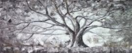 Olieverfschilderij - Grote boom - 60x150 cm