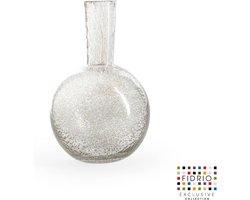 Design vaas Globe medium - Fidrio BUBBLES CLEAR - glas, mondgeblazen bloemenvaas - hoogte 26 cm