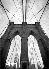 Foto op hout - Brooklyn Bridge