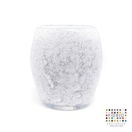 Design vaas Fidrio - glas kunst sculptuur - touch - Old opal- mondgeblazen - 22 cm hoog