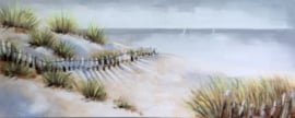 Olieverfschilderij - Strand - 60x150 cm