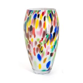 Design vaas Fidrio - Oval Candy - gekleurd glas - mondgeblazen - 30 cm hoog