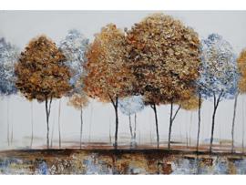 120 x 80 cm - Olieverf schilderij - schilderij bomen - natuur handgeschilderd