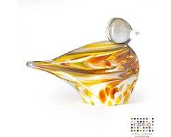 Design beeldje duck - Fidrio mustard - glas, mondgeblazen -