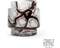 xxx Design pot Puccini - Fidrio ONYX FLAME - glas, mondgeblazen - diameter 11,5 cm hoogte 15 cm