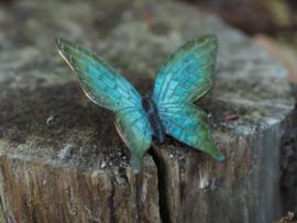 Tuinbeeld -  metalen Beeld - Blauw vlinder
